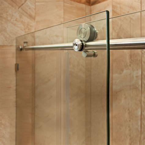 48 Glass Shower Door Lesscare Ultra C 48 X 76 Single Sliding Shower Door Reviews Wayfair Ca