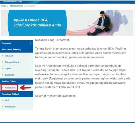 membuat rekening koran bca cara apply kartu kredit bca online tipsxcara com