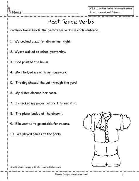 Past Tense Verbs Worksheets by Wonders Second Grade Unit Three Week Three Printouts