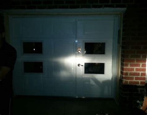 custom pass through garage door with windows ny