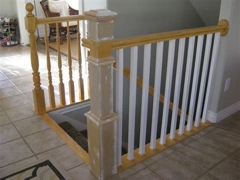 banister pole stair banister renovation using existing newel post and
