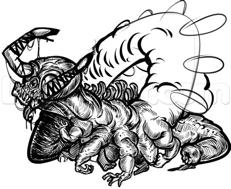How To Draw A Cool Monster Tattoo Step By Step Tattoos Pop Culture Free Online Drawing Cool Pics For To Draw