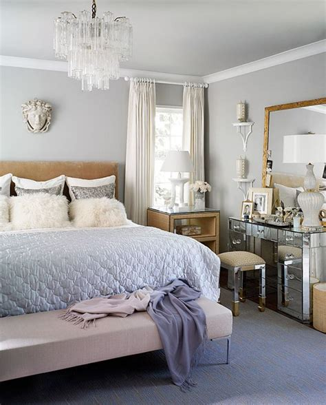 gray blue bedroom home chic home