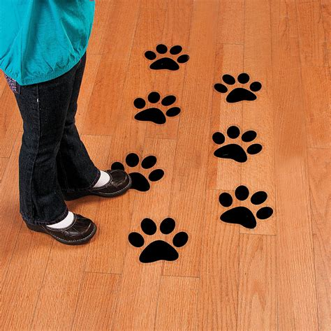 Paw Print Floor Decals Oriental Trading Paw Print Classroom Decorations