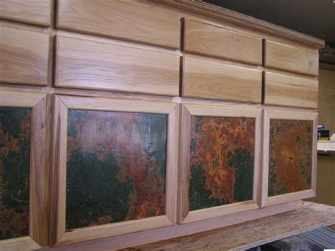 Kitchen Cabinet Door Inserts by Kitchen Cabinets With Copper Door Inserts