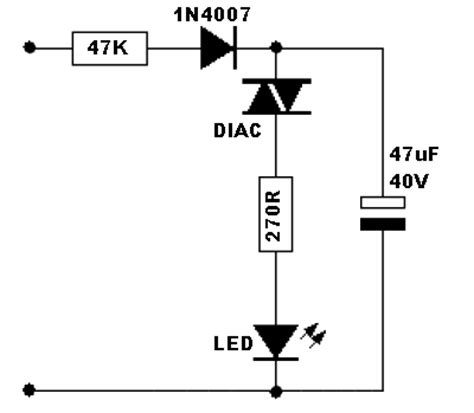 led 220v ac resistor 220v blinking led