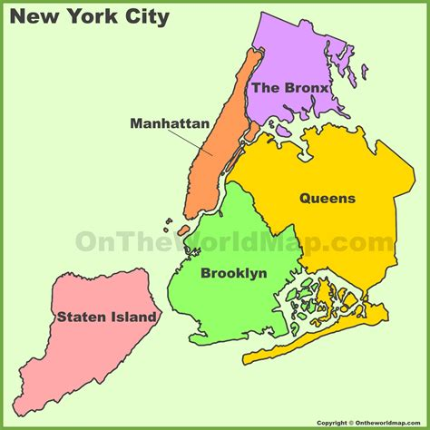 a map of new york city new york city boroughs map