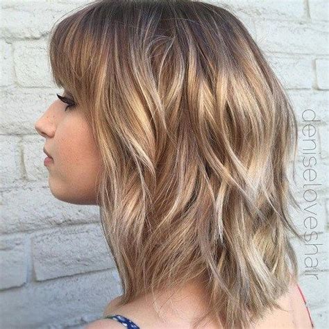 layered bangs hairstyles round faces 7 best new haircut images on pinterest medium long