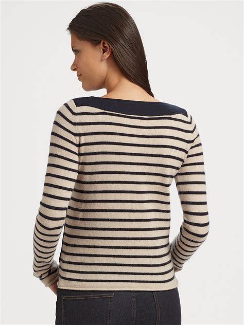 Sweater Stripe Black Gw44 lyst burch owen striped sweater in black