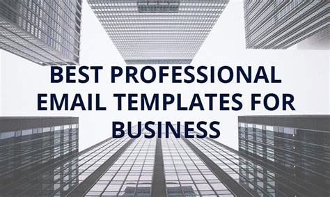 professional email templates  business monsterpost