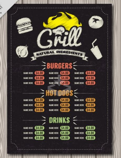 bar and grill menu templates top 30 free restaurant menu psd templates in 2018 colorlib
