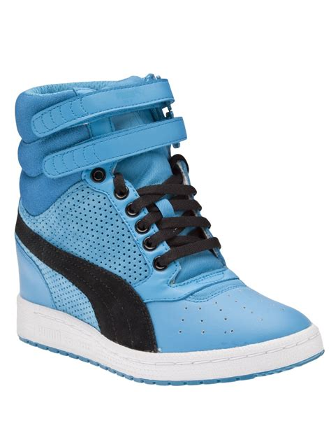 High Top high top wedge in blue lyst