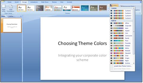create themes in ppt presentations with pizzazz applying your corporate colors