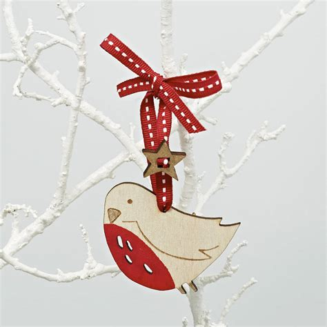 robin christmas decoration by julia davey