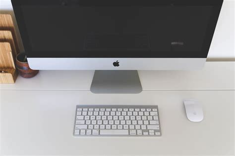 free stock photo of apple computer desk