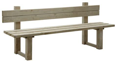 banc en bois avec dossier banc de jardin avec dossier en bois trait 233 autoclave vert gris