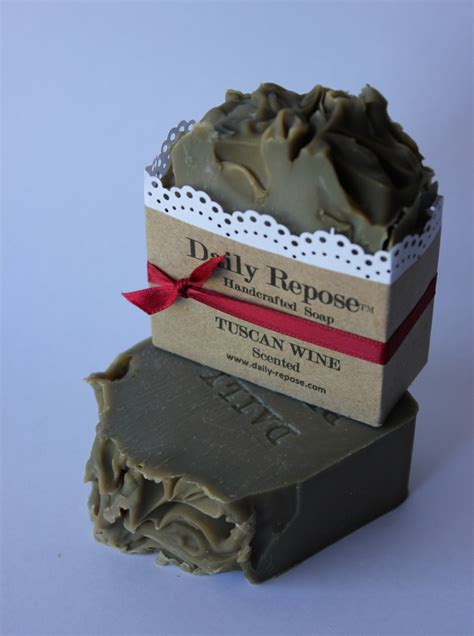Italian Handmade Soap - tuscan wine soap handmade bar scented vegan cold