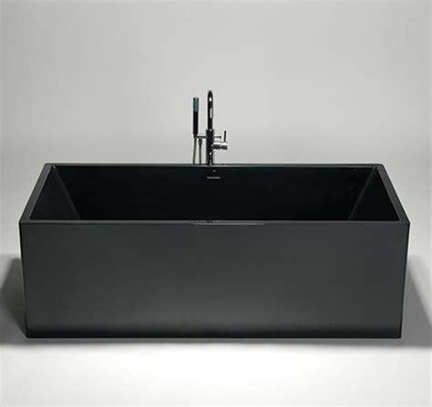 black freestanding bathtub blu bathworks box blu stone freestanding rectangular tub