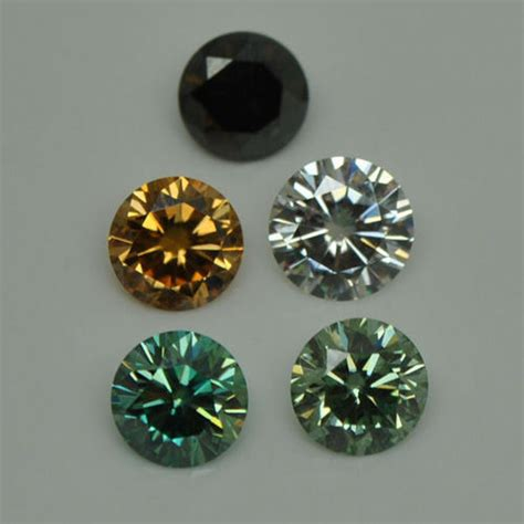 moissanite colors gemone diamonds color moissanite size 1 30 mm to