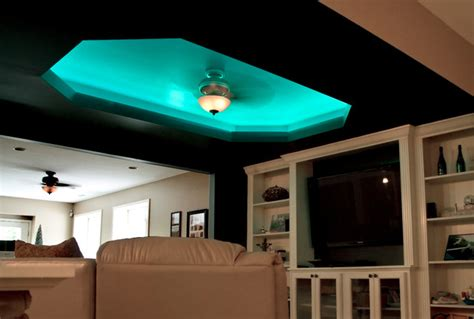 led color changing ceiling cove lighting eclectic