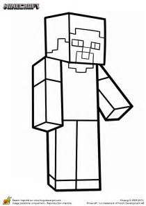 Pics photos steve from minecraft free coloring pages for kids