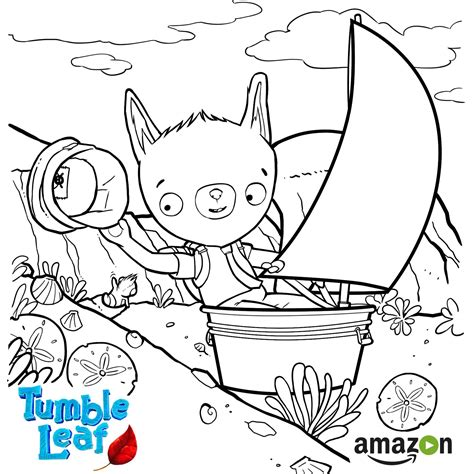 Tumble Leaf Coloring Pages   tumble leaf season 2 begins on amazon prime may 6