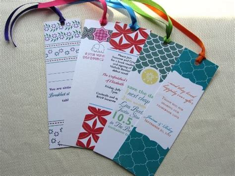 Bookmark Handmade Ideas - 18 best images about bookmark wedding favors on
