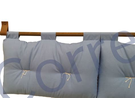 cuscini per testata letto testata letto loto cotone h 45cm moeco 2 cuscini