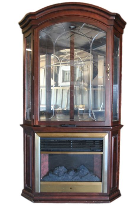 corner curio fireplace heater