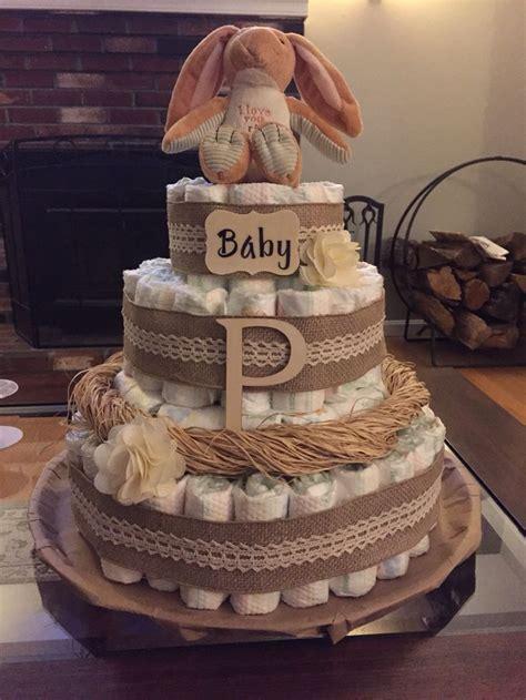rustic diaper cake crafts   baby boy shower