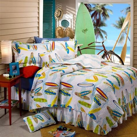 surfboard bedding surfboard 5 piece twin size quilt set free shipping