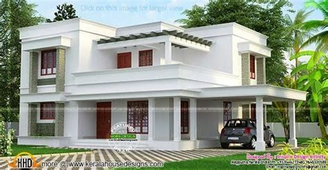 simple  beautiful flat roof house kerala home design