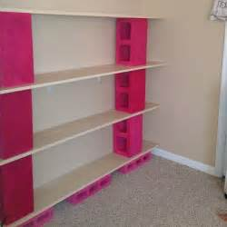 cinder block furniture diy shelves bookshelves made from painted pink cinder blocks concrete