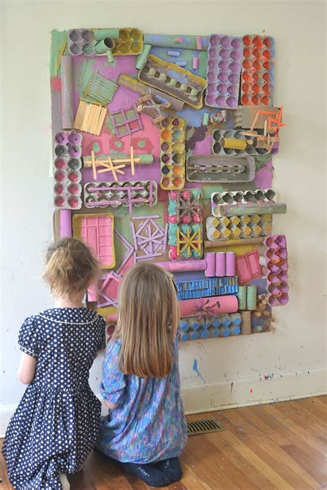 awesome recycled materials art wall recycled art