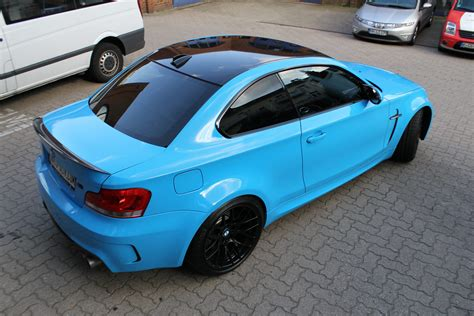 Bmw 1er Coupe Matt Schwarz by Bmw 1er M Coup 201 In Light Blue Mit Schwarz Matten Extras