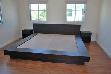 furniture tatami platform bed walnut arata