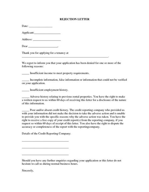 Rental Property Management Application 13 Best Rental Application Rejection Letter 5 Property