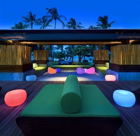the backyard w hotel outdoor design with colored lights 2 myhouseidea