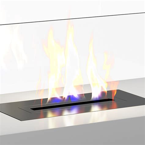 white gas fireplace 3d model from cgaxis
