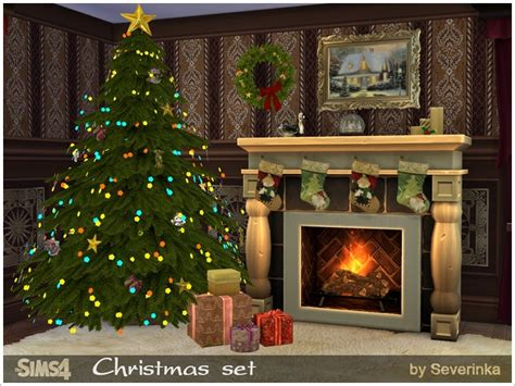 sims 3 christmas decor cc severinka s set