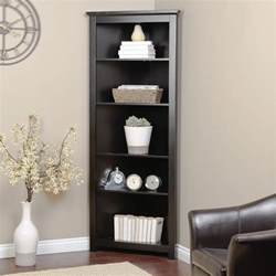 Black Corner Bookcase Redford Black Corner Bookcase At Hayneedle
