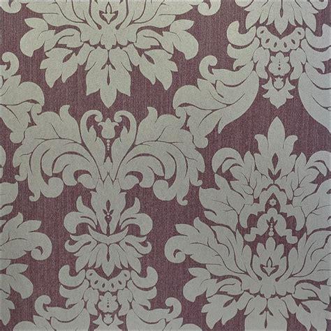 Aubergine And Silver Wallpaper