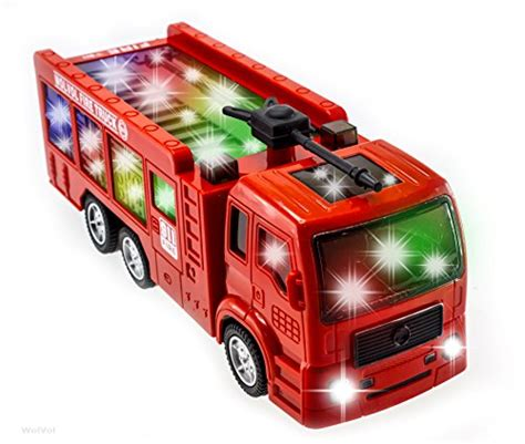 firefighter lights and sirens wolvol electric fire truck toy with stunning 3d lights and