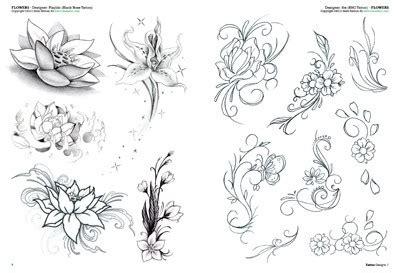 caviglia fiori tatouages de fleurs 2