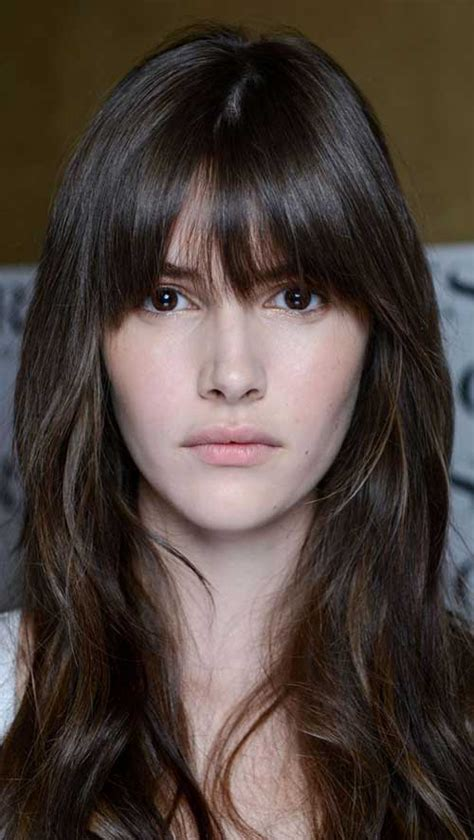 hairstyle with a few bangs 50 new haircuts with bangs long hairstyles 2016 2017