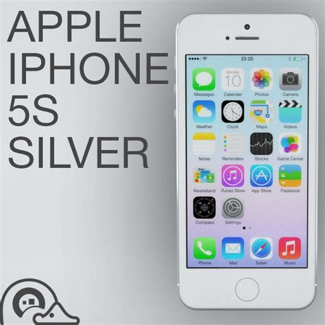 Apple Iphone 5s Silver Iphone 5s E 3d apple iphone 5s silver