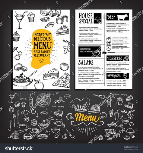 restaurant flyer design vector restaurant cafe menu template design food stock vector