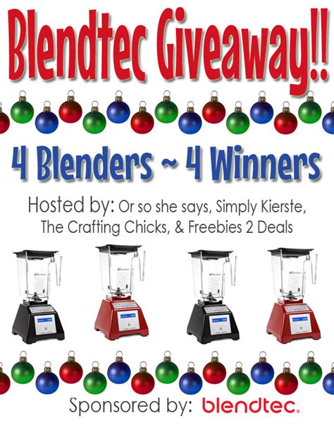 Blender Giveaway - blendtec blender giveaway simplykierste com