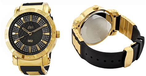 Pu02 Rubber Black List Gold jbw men s and women s watches