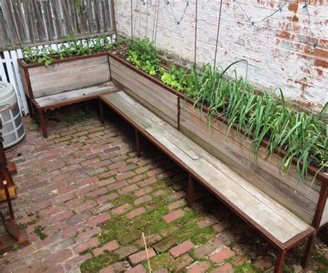 Dining Room Tables Bench Seating Backyard Planter And Seating